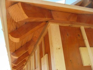 timber work for a residence